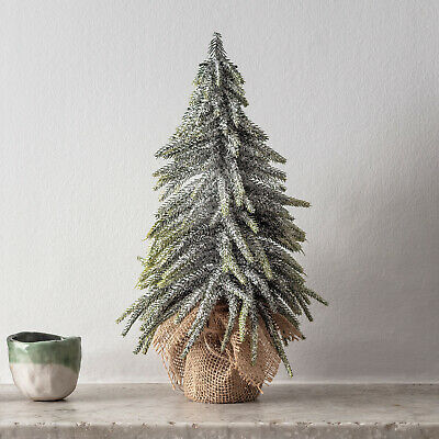 Mini Artificial Christmas Tree Frosted Tips Table Top Decoration 35cm Lights4fun • 14.99£