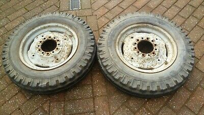 Massey Ferguson 35 Tractor Front Wheels Original With Tyres Collection Only • 125£