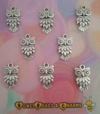 ❤ Owl Charms ❤ Pack Of 8 ❤ CRAFTING/JEWELLERY MAKING ❤  • 1.20£