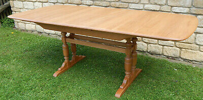 ERCOL DORCHESTER EXTENDING TABLE IN LIGHT WOOD  Type 1094 LT Shade • 550£