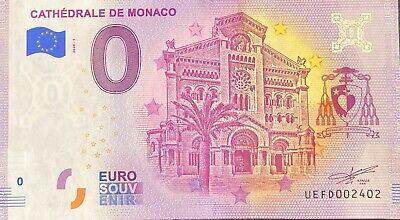Ticket 0 Euro Cathedral Of Monaco France 2020 Number Various • 4.40£