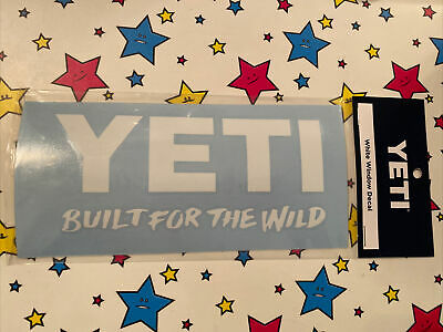 Yeti Coolers White Window Decal Built For The Wild Authentic Vinyl • 2.26£