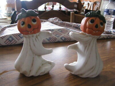 $ CDN10.38 • Buy VINTAGE HALLOWEEN CANDLE HOLDERS Lot Of 2