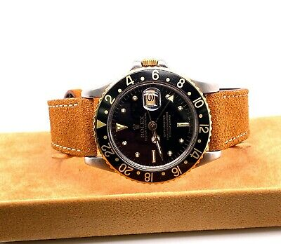 $ CDN11356.74 • Buy Rolex GMT Master 16753 Nipple Dial 18K Yellow Gold Stainless Steel