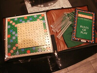 Spear's Travel Scrabble In Zip-Up Padded Case - Complete With Instructions • 12.99£