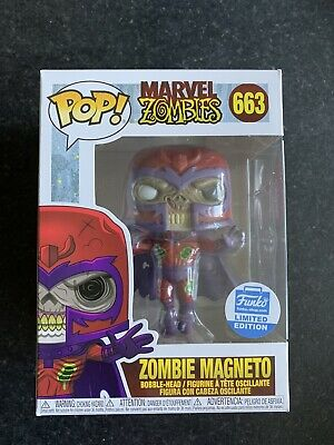 Funko Pop Zombie Magneto Figure Funko Shop Exclusive #663 In Hand • 29.99£