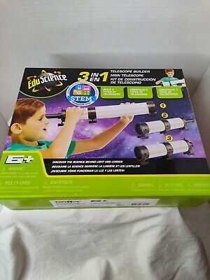 £5.66 • Buy NEW Edu Science 3-in-1 Telescope Builder Ages 6+ New In Box