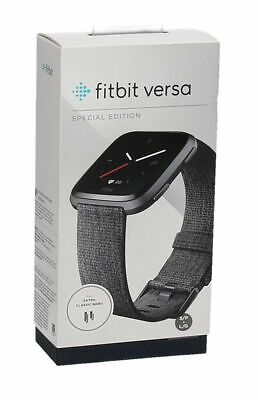 $ CDN137.84 • Buy Fitbit Versa Special Edition Smart Watch Activity Tracker HR FB505BKGY Charcoal