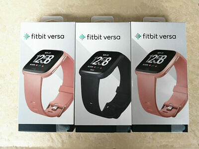 $ CDN121.67 • Buy Fitbit Versa Smart Watch HR Black Gray Silver Charcoal Ruby Pink Lavender Gold