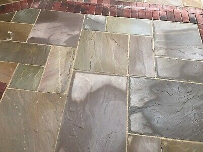 Indian Sandstone Raj Green Paving Patio Pack 20.25sqm Next Day Calibrated H/c • 430£