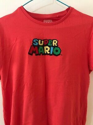 Super Mario Cute Red T-shirt Embroidery And Motif Mario Kart Primark Unisex • 8£