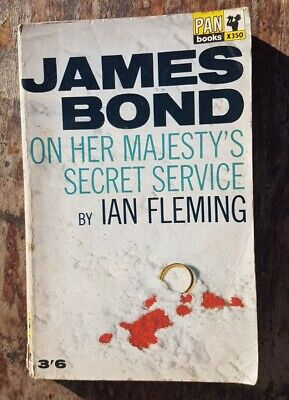 On Her Majesty's Secret Service Ian Fleming PAN X350 1965 4th Print Good Con • 5£