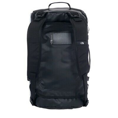 The North Face Base Camp Duffle Bag Small S Size 50L Black Silver Holiday Travel • 70£