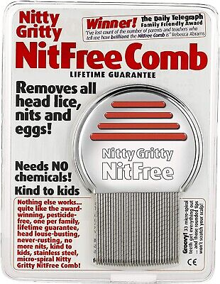 Nitty Gritty Nit Free Comb. No Chemicals & Kind To Kids. • 8.99£