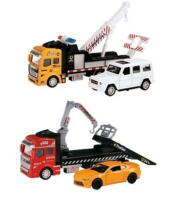Diecast Metal Supercar Transporter Tow Truck Sports Wagon Recovery Truck • 17.99£