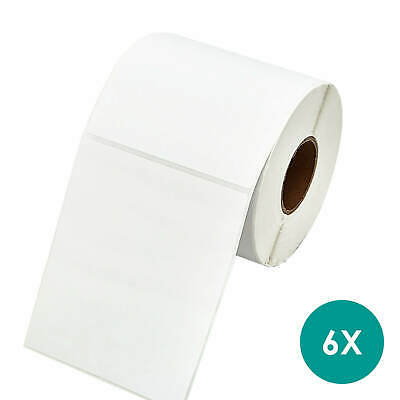 AU51.95 • Buy 6X Thermal Direct Labels For Thermal Printers Strong Adhesive Sticker Label Roll