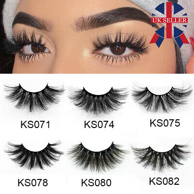 7 Pairs Long Wispy Fluffy Hair 3D Mink False Eyelashes 25mm Lash Lash Extension • 4.79£