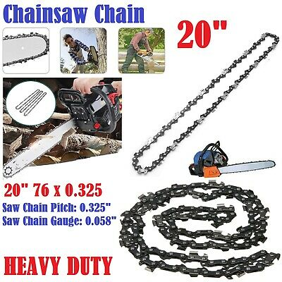 20  Inches Heavy Duty Electric Kings Bar Chainsaw Chain Precision Cutting Cutter • 8.89£