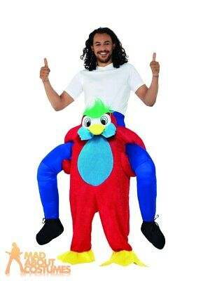 £20.99 • Buy Adult Ride On Parrot Costume Tropical Bird Funny Animal Book Day Fancy Dress