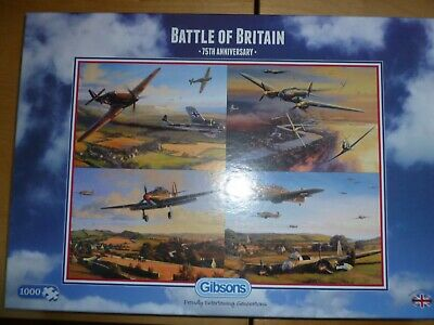 Gibsons 1000 Piece Puzzle Battle Of Britain 75th Anniversary Very Good Condition • 3.99£