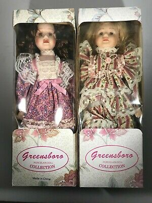 $ CDN20.18 • Buy Greensboro Porcelain Doll Collection Lot Of Two Dolls In The Boxes