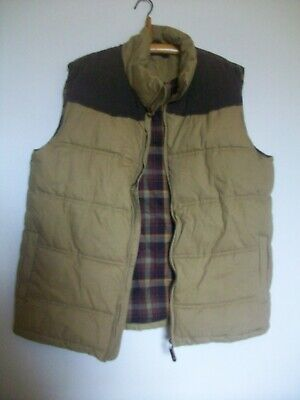 Peter Storm Sleeveless Padded Lined Cotton Collared Gilet Cord Detail, Large  • 29.50£