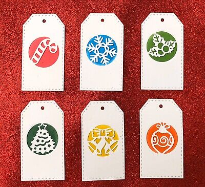 Brand New 6 Piece Christmas Tree Candy Cane Bow Bell Holly Metal Die Cutter Uk • 5.99£