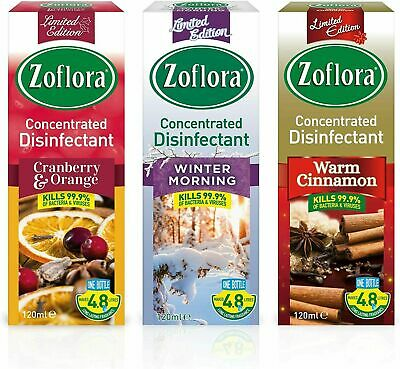 3x ZOFLORA CONCENTRATED CHRISTMAS DISINFECTANT WINTER EDITION (120ML)  • 9.40£