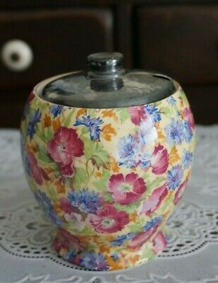 $ CDN25.32 • Buy VINTAGE Royal Winton Grimwades Royalty Chintz Mustard Jar, England