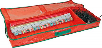 Netagon Christmas Tree Wrapping Papers Wreath Decorations Bauble Box Storage Bag • 13.04£