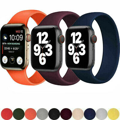 AU17.99 • Buy SOLO Elastic Belt Loop Silicone Strap For Apple Watch SE 6 5 4 3 2 1 IWatch Band