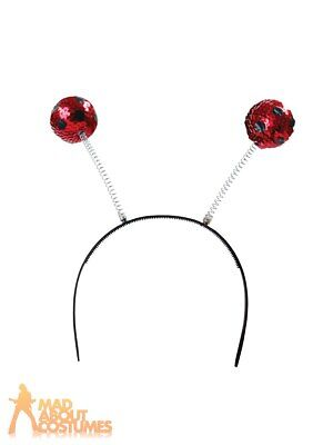 Sequin Ladybird Boppers Fancy Dress Insect Book Week Day Costume Accessory • 2.99£
