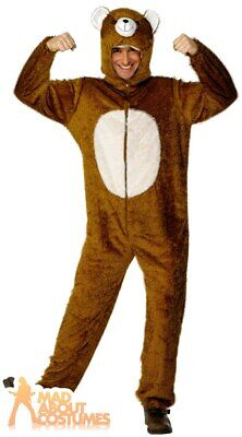 Adult Bear Costume Three Bears Book Day Halloween Mens Fancy Dress Outfit  • 27.99£