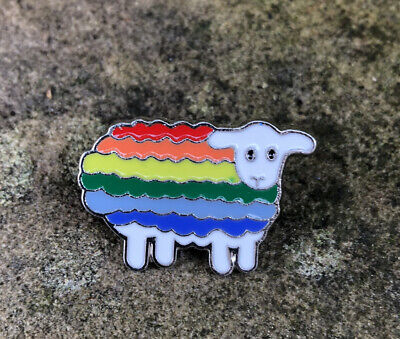 Sheep With Rainbow 🌈 Jumper - Enamel Pin Badge • 2.25£