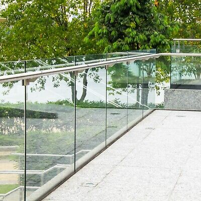 10mm Toughened Glass Balustrade Panels Balcony Decking Stairs - Custom Sizes • 49.99£