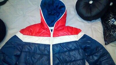Mens Puffer Jacket Small 55soul Blue Red • 16.99£