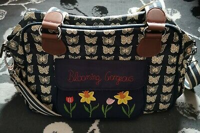 Yummy Mummy Pink Lining Blooming Gorgeous Baby Changing Bag • 17£