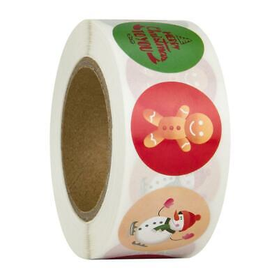£2.95 • Buy Christmas Stickers 25mm Round Labels Gift Seal Love Santa Snow Tree Party Xmas