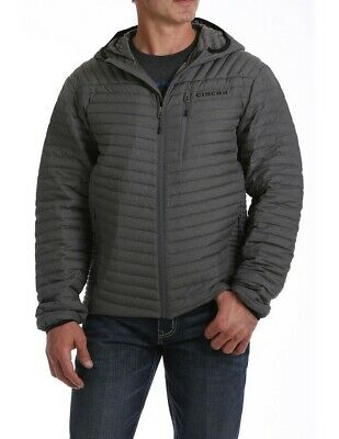 $161.50 • Buy Cinch Western Jacket Mens Quilted Midweight Heather Gray MWJ1507001