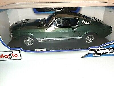 $30.99 • Buy Maisto 1967 Mustang Gta Fastback 1:18 Scale Replica Special Edition Green New