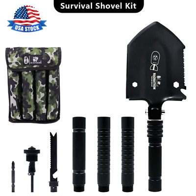 $29.43 • Buy Military Folding Shovel Outdoor Camping Outdoor Tool Emergency Gear USA Muti-Use