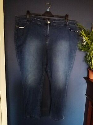 Simply Be Skinny Jeans Plus Size 32 Blue Midwash • 5£