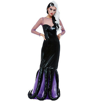 £31.75 • Buy Ladies Ursula Evil Sea Witch Costume Adult Halloween Villain Fancy Dress Outfit
