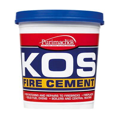 Kos Fire Cement Buff Everbuild Brick Furnace Stove 500g Heat Resistant 500 Grams • 4.84£