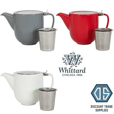 £14.99 • Buy Whittard Of Chelsea Fenxiang Teapot With Infuser Grey, White & Red Brew For 5