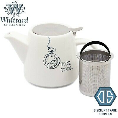 £12.99 • Buy Whittard Of Chelsea White Tick, Tock Pao Teapot With Infuser Brew For 2 Tea Pot