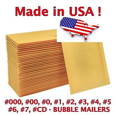 $42.99 • Buy Air Bubble Mailers Padded Envelopes Bags #0 #1 #2 #3 #4 #5 #6 #7 #00 #000 - USA