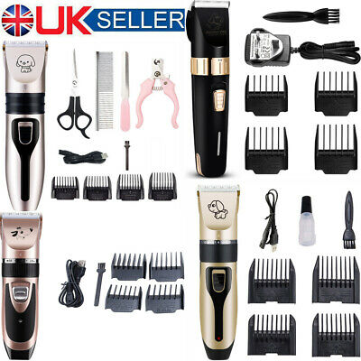 Pro Pet Grooming Clipper Set Cordless Electric Low Noise Shaver Dog Hair Trimmer • 6.99£