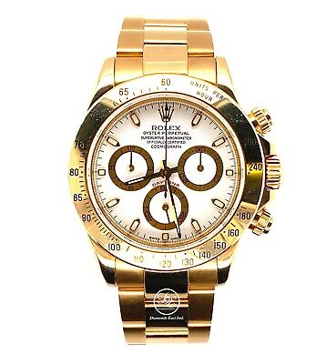 $ CDN40130.58 • Buy Rolex Daytona 116528 18K Yellow Gold White Oyster Perpetual Cosmograph Watch