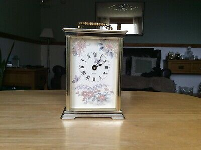 Quartz Carriage Clock, Floral Pattern On Dial. • 8£